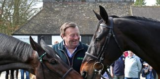 Nicky Henderson looks for Worcester double. Photo source Twitter