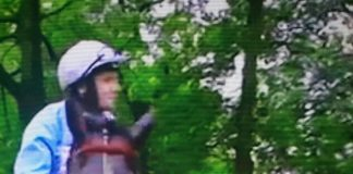 Jockey Tom Eaves on Maid In India at Haydock Park.