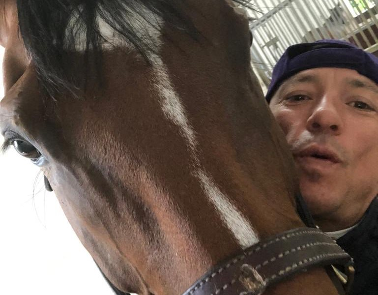 """What a mare! We're on the road to Longchamp,"" said Dettori, eyeing success in the Arc de Triomphe."