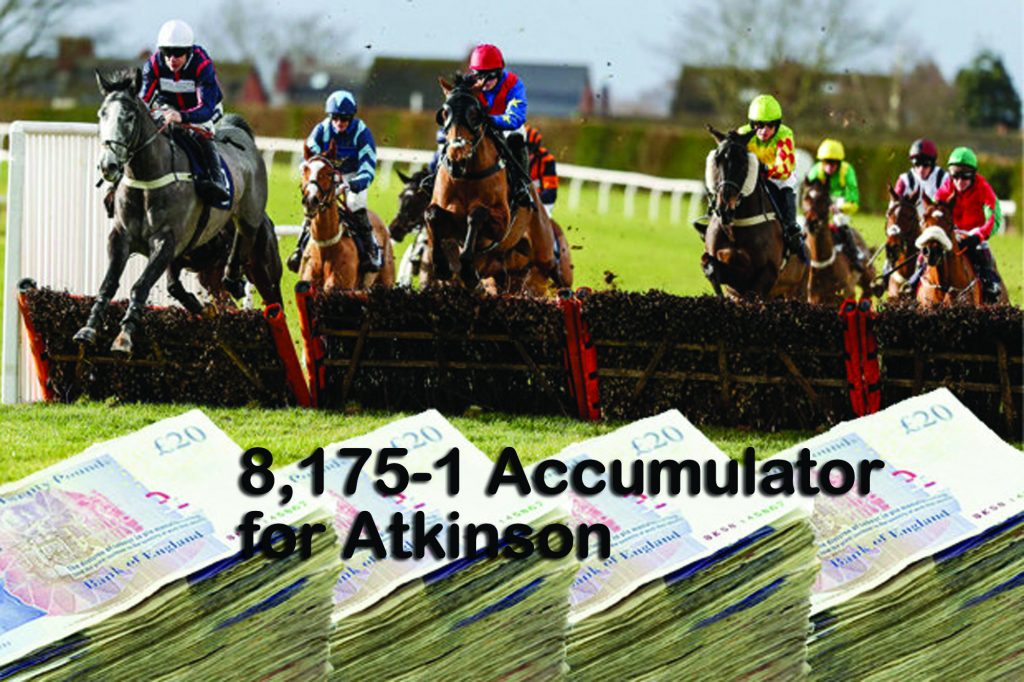 Just Champion as fromthehorsesmouth.tips Escobar 16-1 - part of 8,175-1 accumulator!