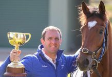 Trainer Charlie Appleby, including the defending Lexus Melbourne Cup (3200m) champion Cross Counter
