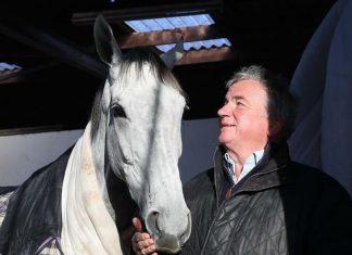 Img Twitter - Bristol de Mai and trainer Nigel Twiston-Davies