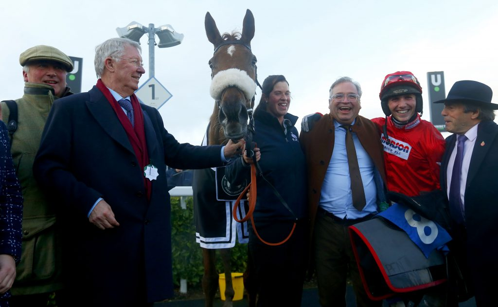 Give Me A Copper, part-owned by ex-Manchester United manager Sir Alex Ferguson, who was at the races, completed a fromthehorsesmouth.tips Wincanton 17-1 treble.