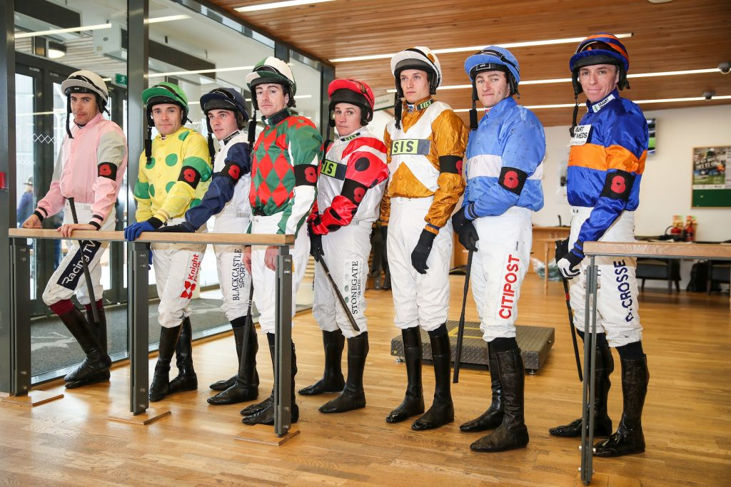 The jockey room at Aintree Racecourse