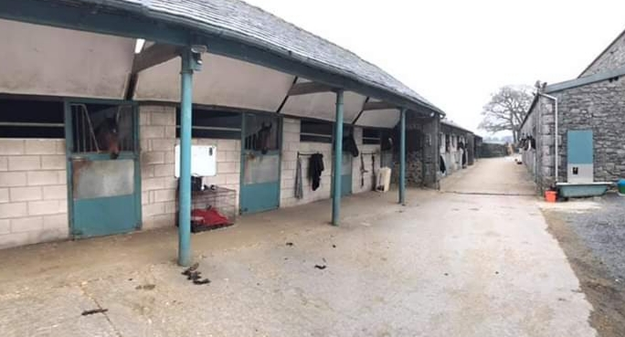 James Moffatt Pit Farm, Cartmel racing stables.