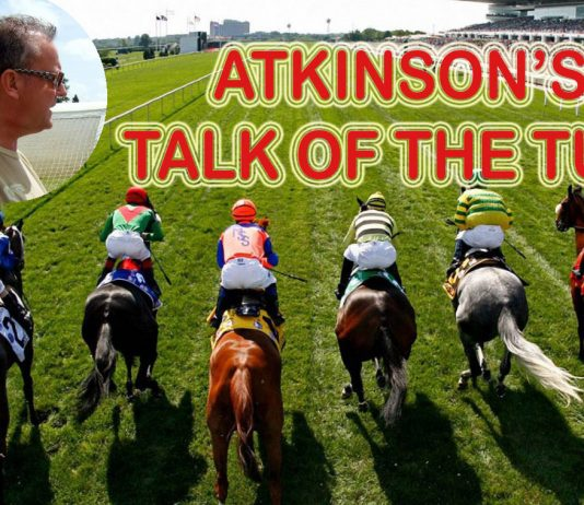 Punters friend Andrew Atkinson's TALK OF THE TURF